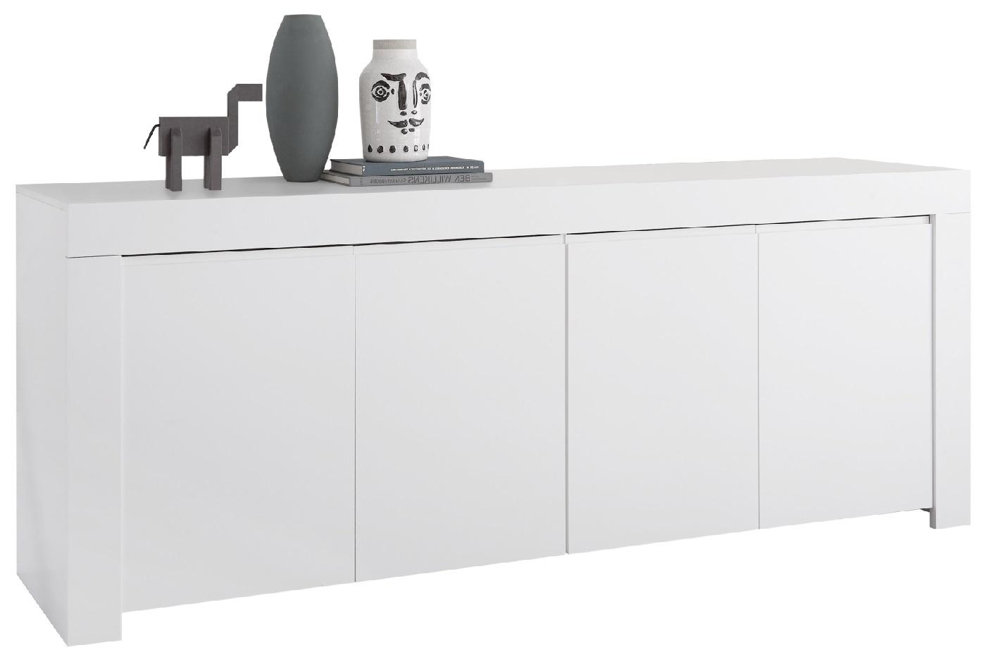 Dressoir Firenze 210 cm breed in mat wit | Pesaro Mobilia
