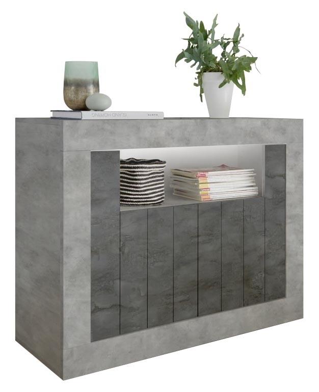 Dressoir Urbino 110 cm breed in grijs beton met oxid | Pesaro Mobilia