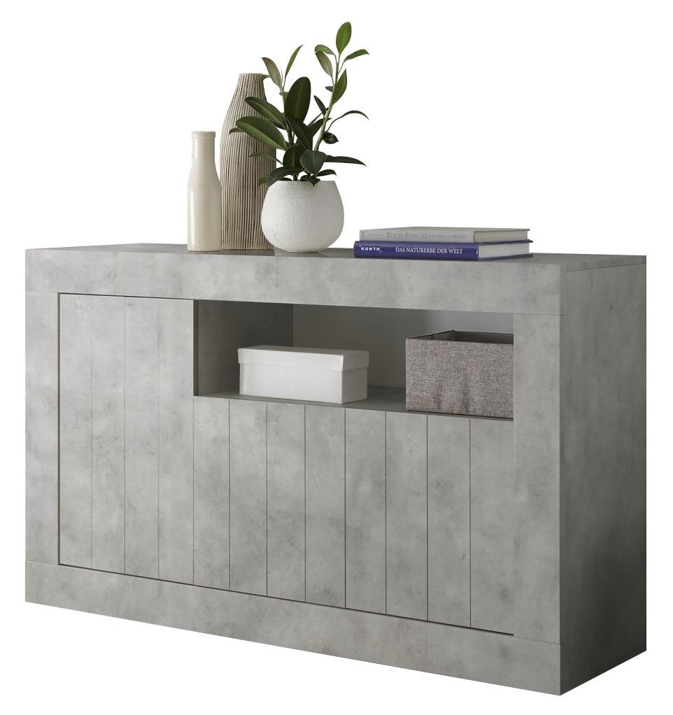 Dressoir Urbino 138 cm breed in grijs beton | Pesaro Mobilia
