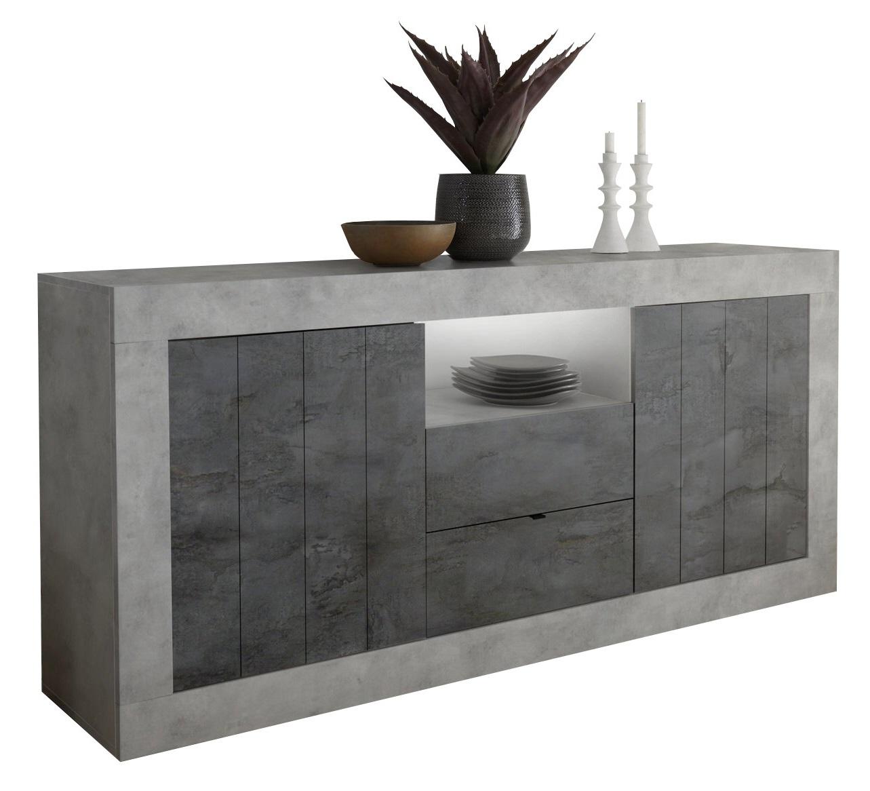 Dressoir Urbino 184 cm breed in grijs beton met oxid | Pesaro Mobilia
