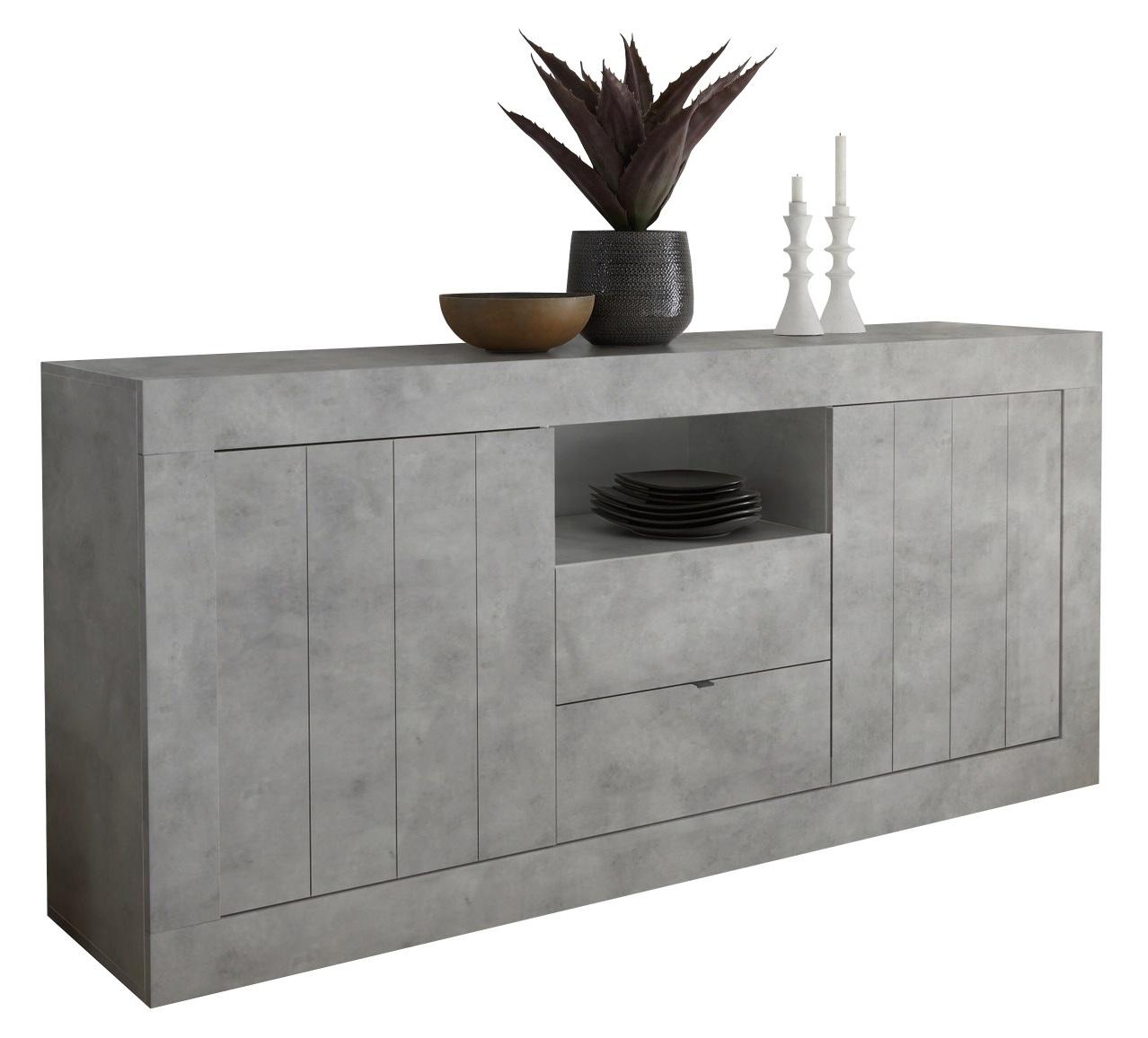Dressoir Urbino 184 cm breed in grijs beton   Pesaro Mobilia