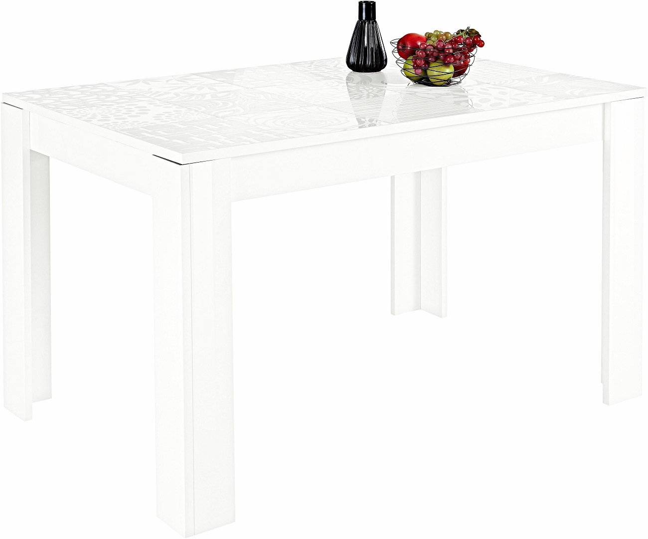 Eettafel Miro 180 cm breed in hoogglans wit | Pesaro Mobilia
