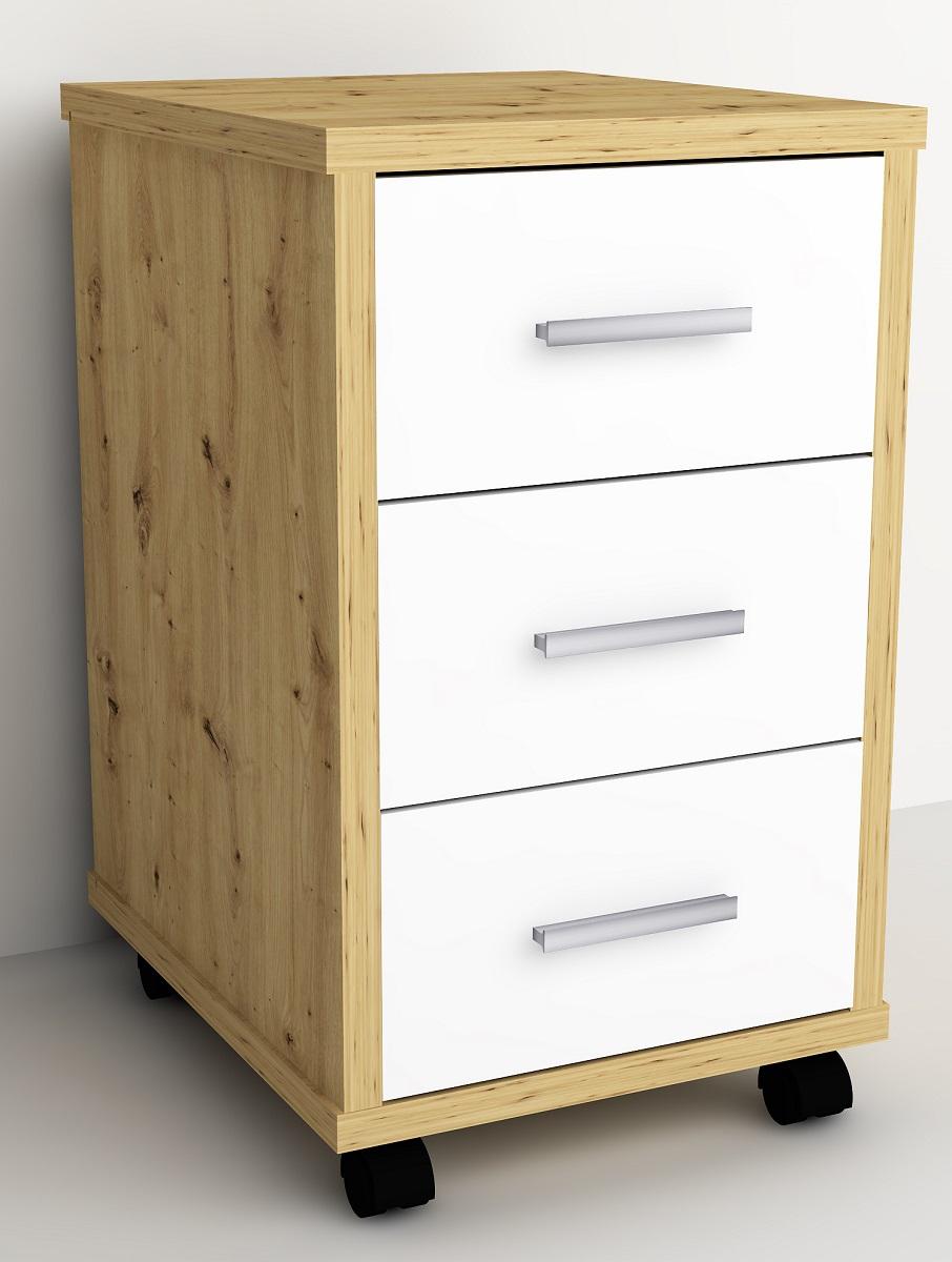 Ladeblok Gody 60 cm hoog in artisan eiken met wit | FD Furniture