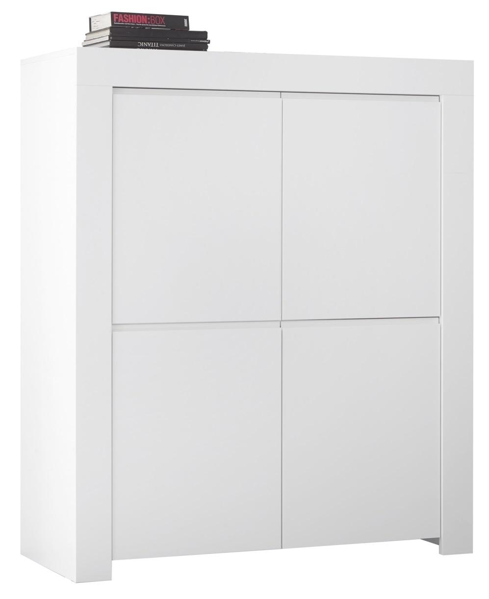 Opbergkast Firenze 140 cm hoog in mat wit | Pesaro Mobilia