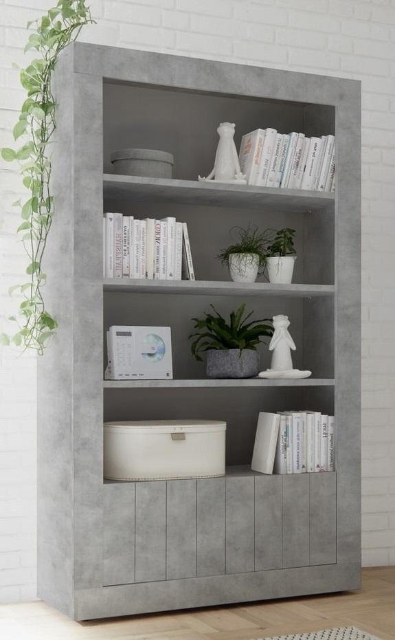 Open boekenkast Urbino 190 cm hoog in grijs beton | Pesaro Mobilia