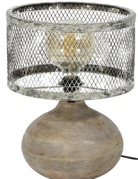 Tafellamp Trunk van 40 cm hoog – Verweerd koper | Zaloni