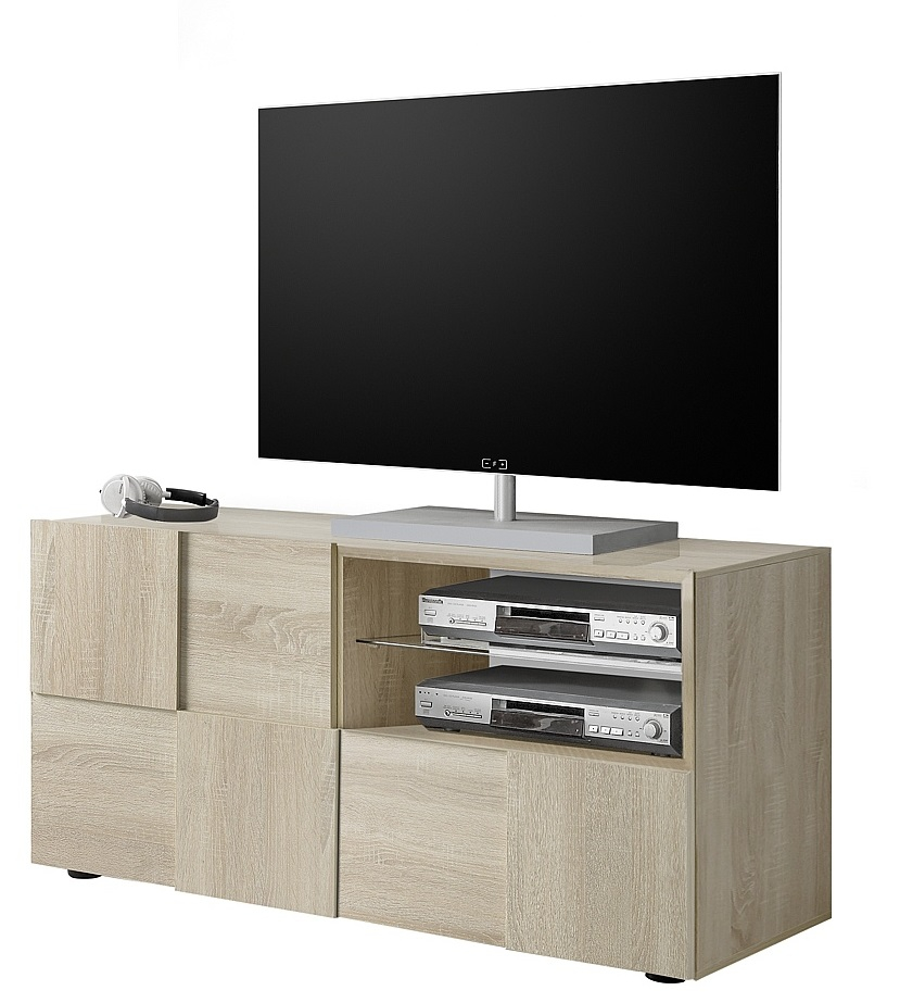 Tv-meubel Dama 121 cm breed in sonoma eiken | Pesaro Mobilia