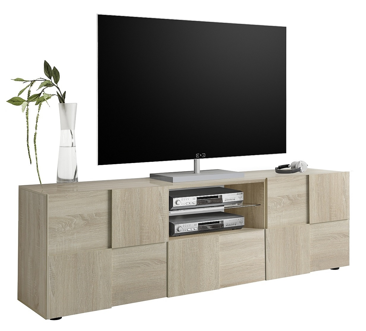 Tv-meubel Dama 181 cm breed in sonoma eiken | Pesaro Mobilia