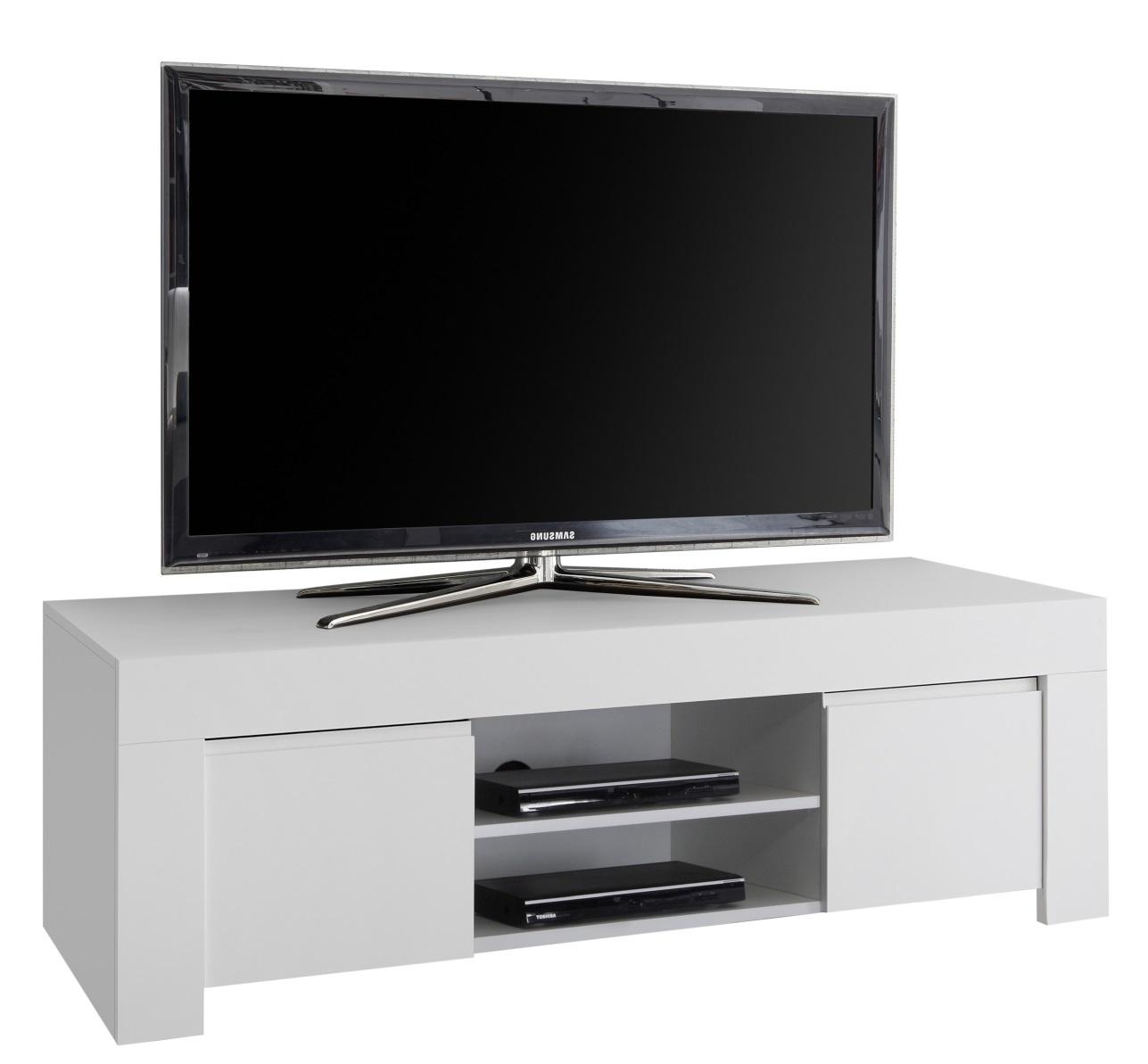 Tv-meubel Firenze 138 cm breed in mat wit | Pesaro Mobilia