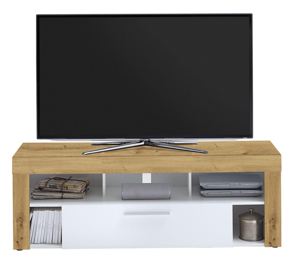 Tv-meubel Raymond 150 cm breed in artisan eiken met wit | FD Furniture