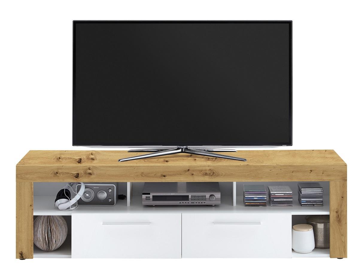 Tv-meubel Raymond 180 cm breed in artisan eiken met wit | FD Furniture