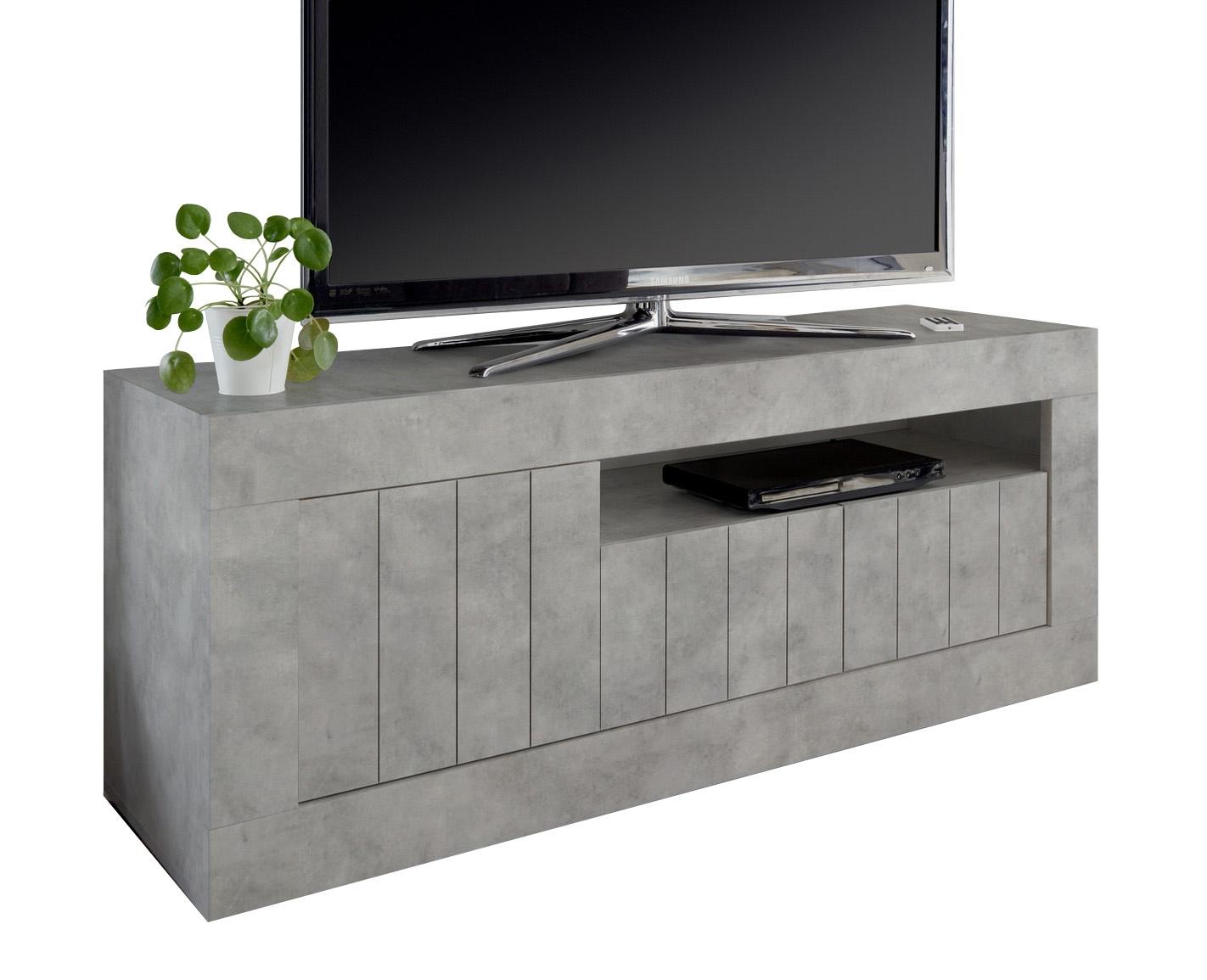 Tv-meubel Urbino 138 cm breed in grijs beton   Pesaro Mobilia