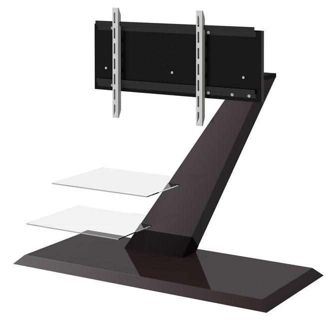 Tv-meubel Vento 110 cm breed – hoogglans bruin   Hubertus Meble