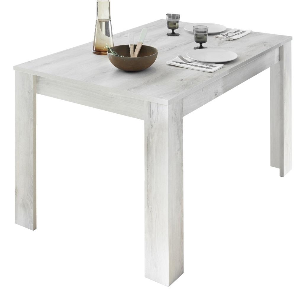 Uitschuifbare Eettafel Urbino 137 tot 185 cm breed in grenen wit | Pesaro Mobilia