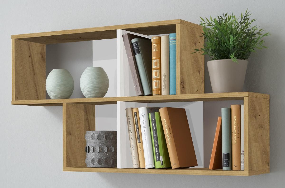Wandrek Lendy 100 cm breed in artisan met wit   FD Furniture