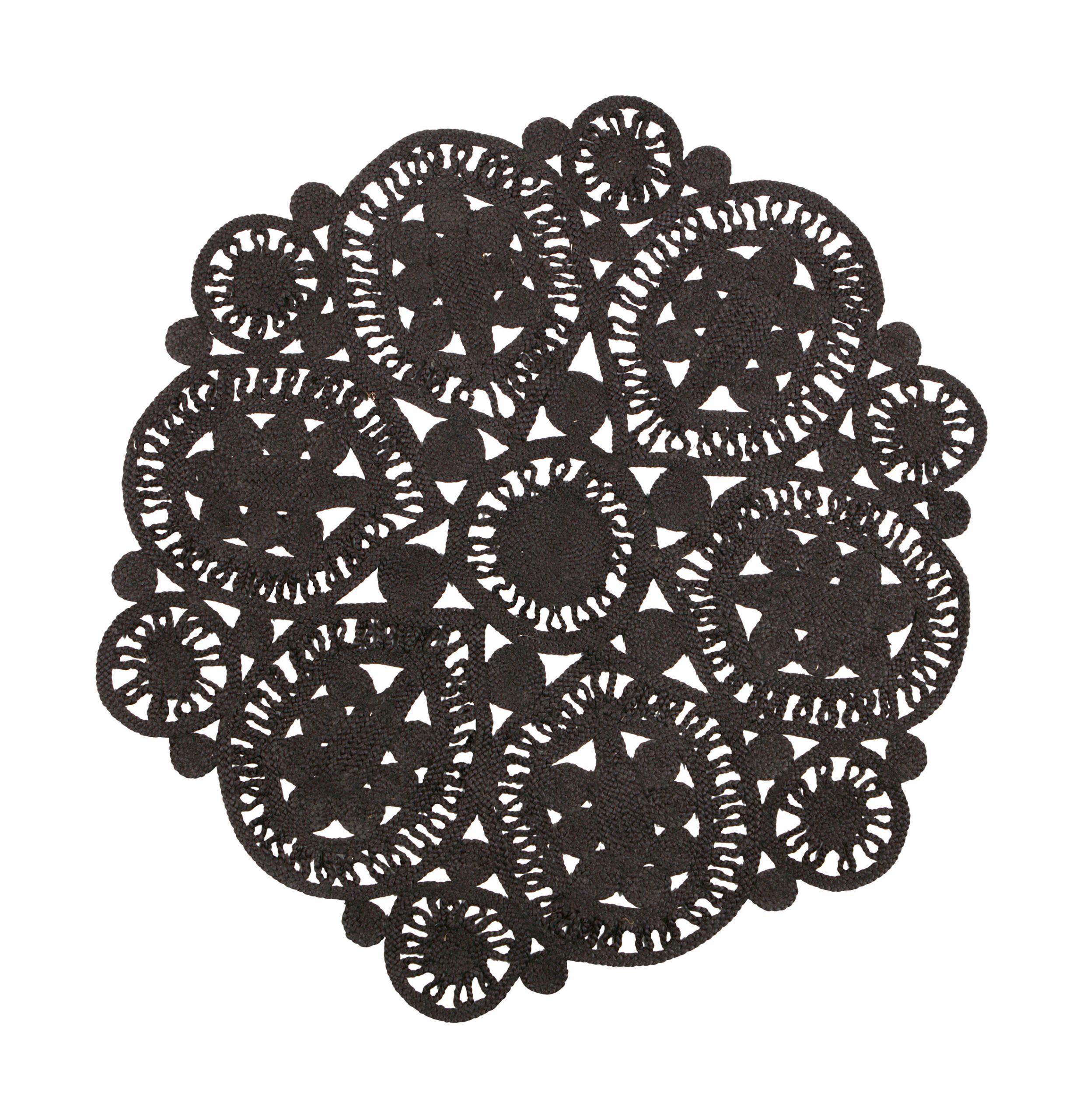 BePureHome Vloerkleed 'Coaster' 150cm, kleur Zwart | BePureHome