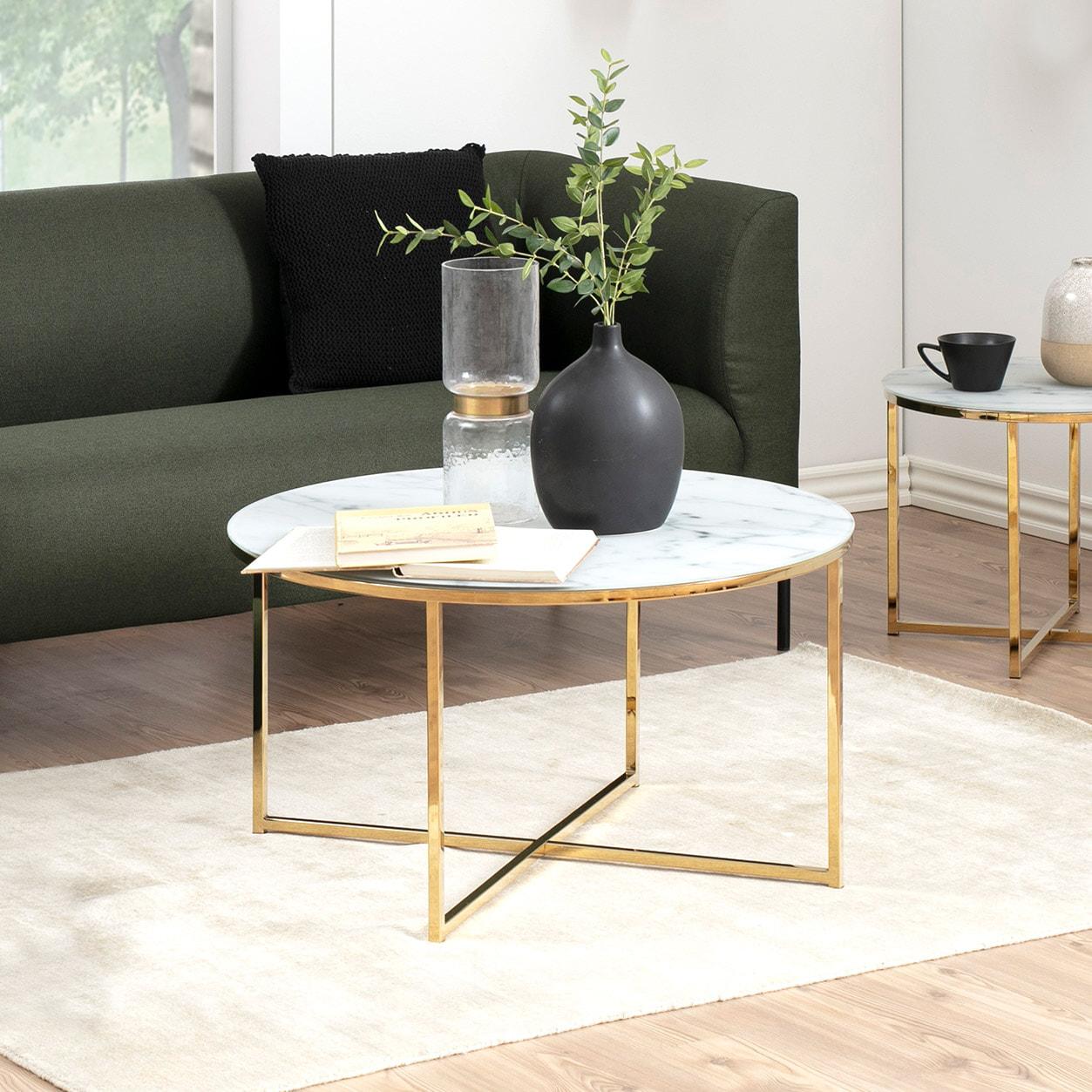 Ronde Salontafel 'Cay' 80cm, kleur goud | Bendt