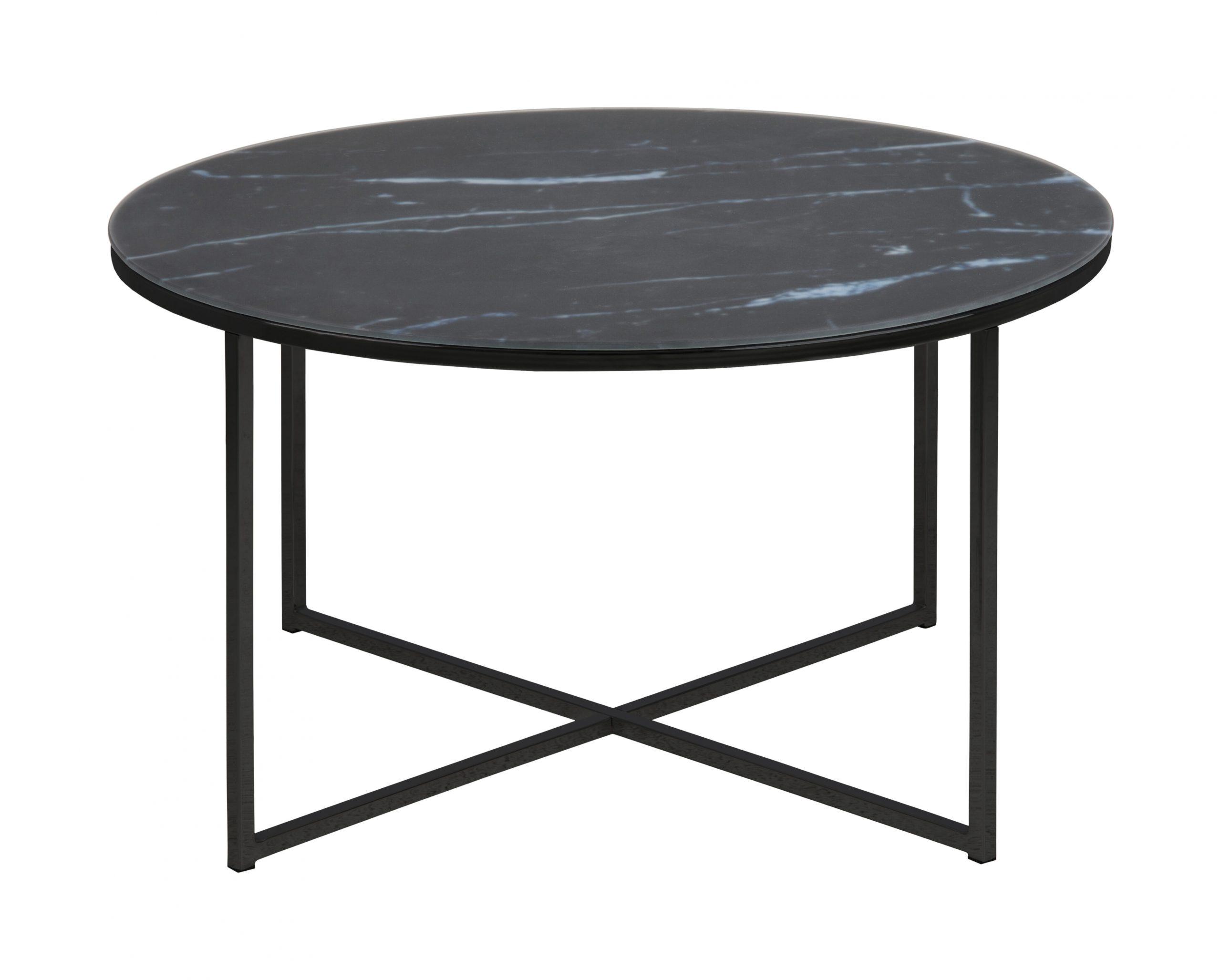 Ronde Salontafel 'Cay' 80cm, kleur zwart | Bendt