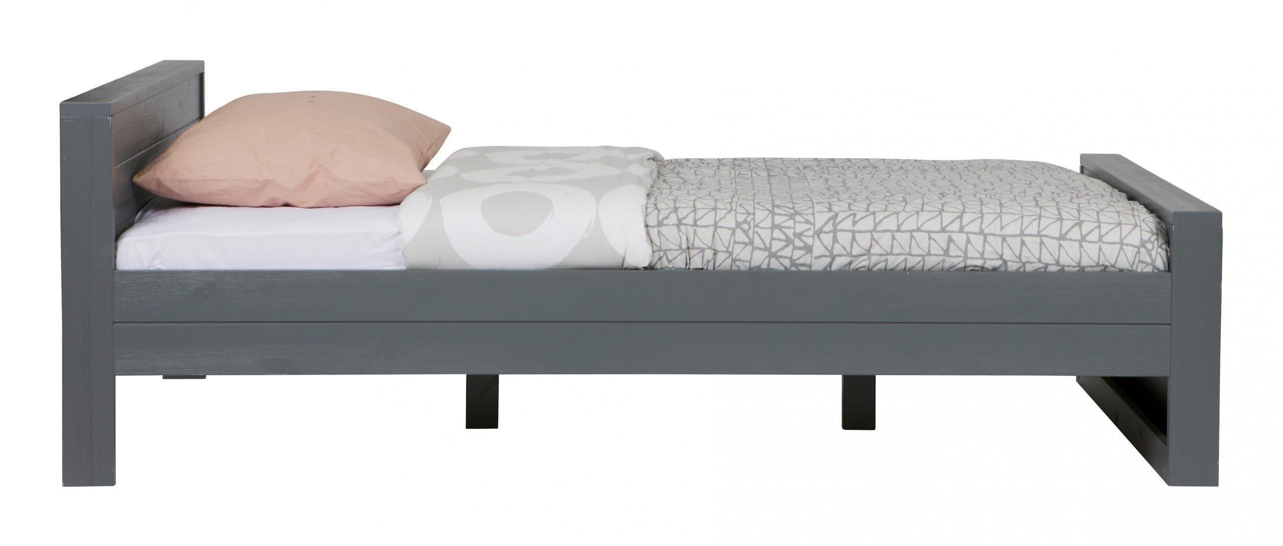 WOOOD Bed 'Dennis' 120 x 200cm, kleur Steel grey | WOOOD