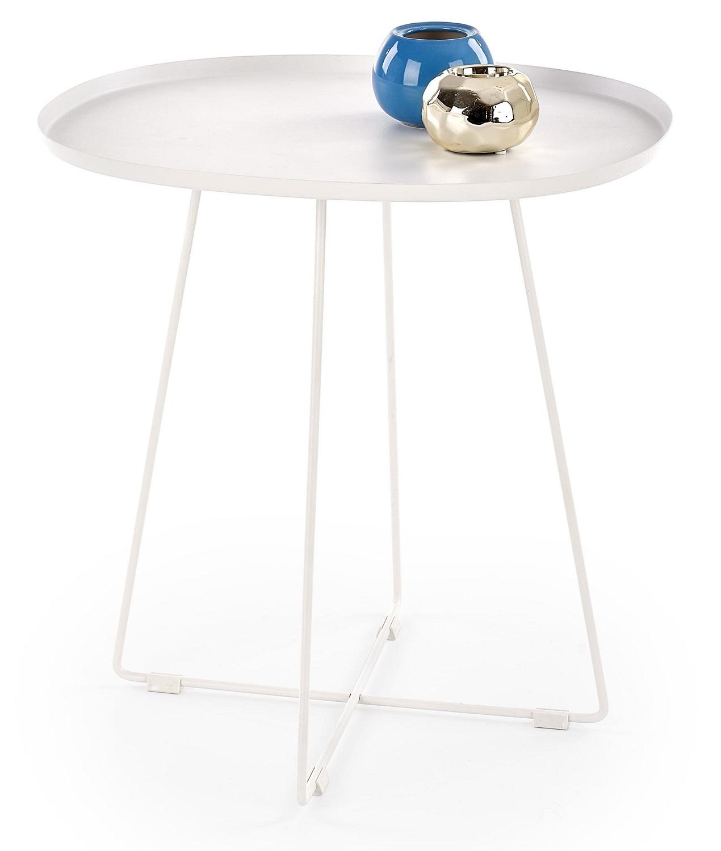 Bijzettafel Tina 50 cm breed in wit | Home Style