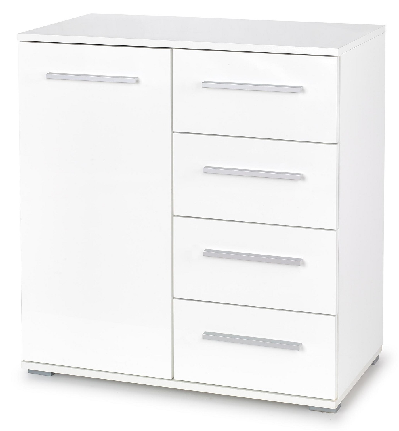 Commode Lima 82 cm hoog in hoogglans wit | Home Style