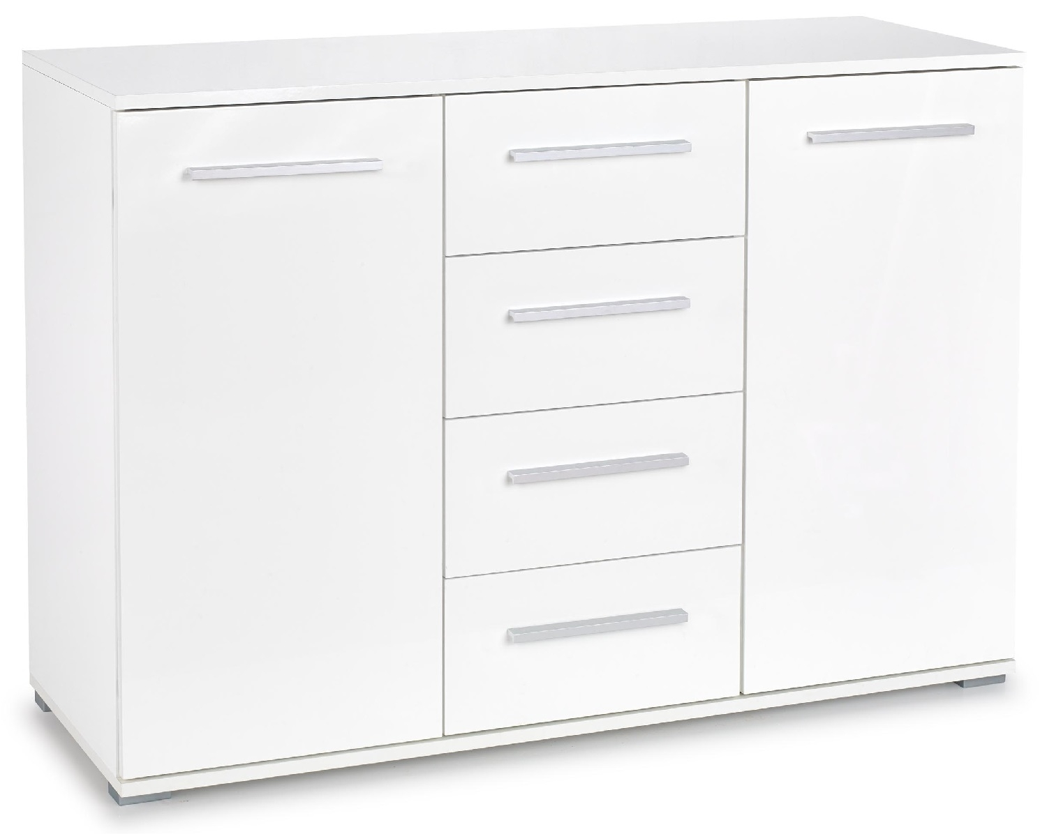 Dressoir Lima 116 cm breed in hoogglans wit | Home Style