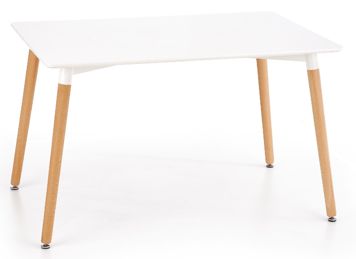 Eettafel Socrates 120 cm breed in wit | Home Style