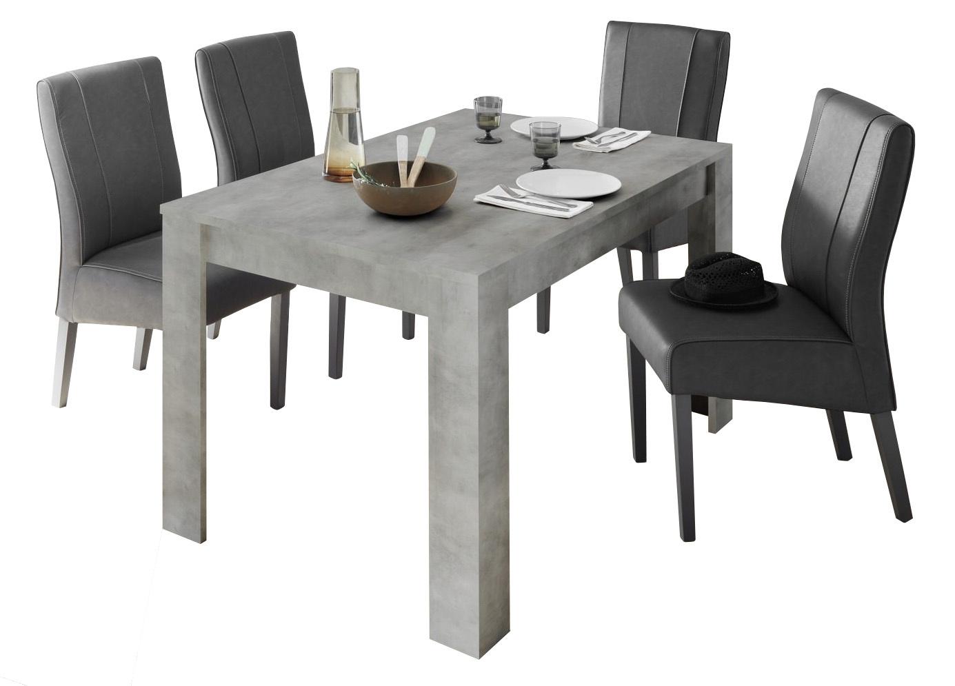 Eettafel Urbino 180 cm breed in grijs beton | Pesaro Mobilia