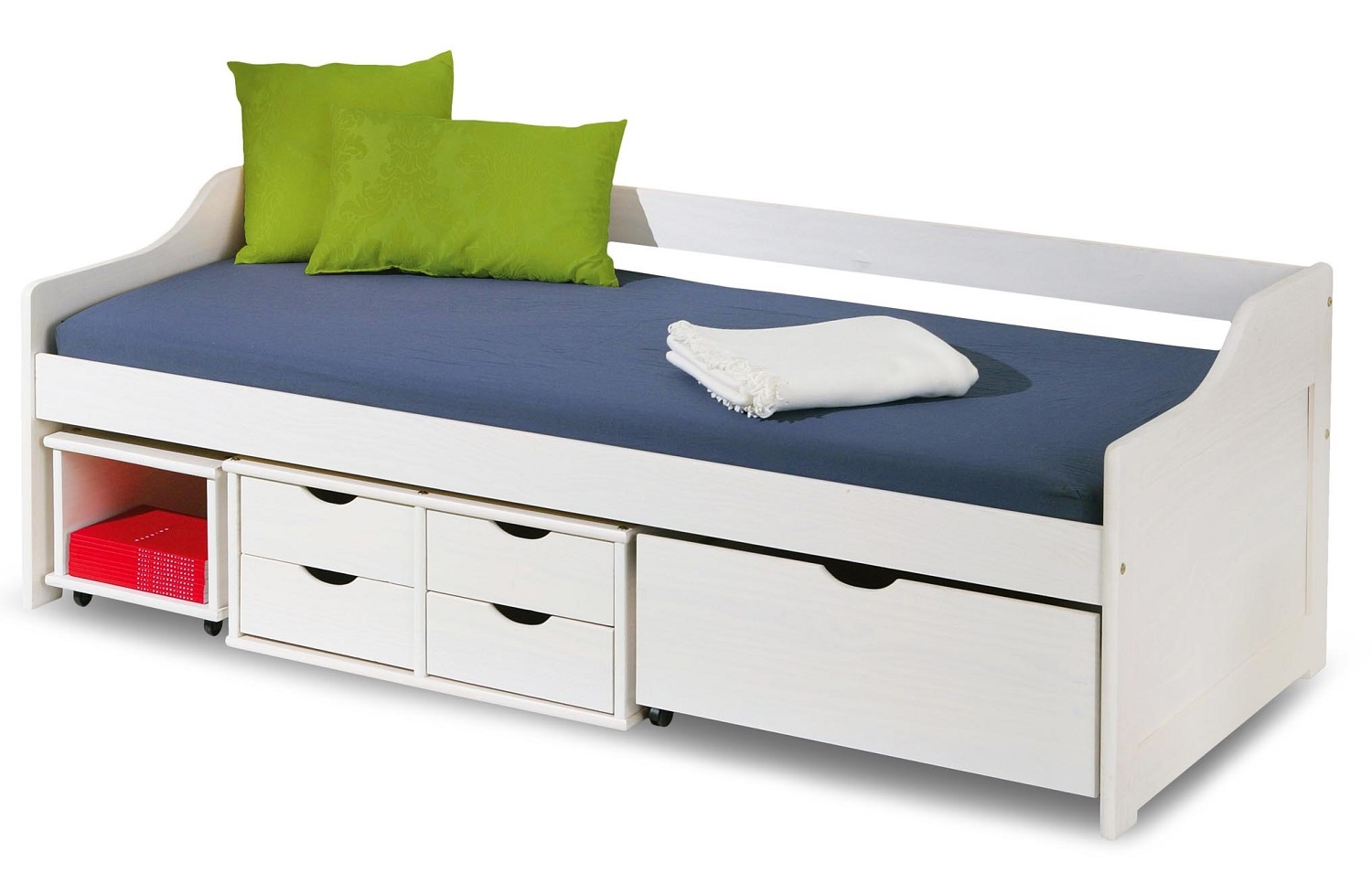 Kajuitbed Floro 90x200cm in wit   Home Style