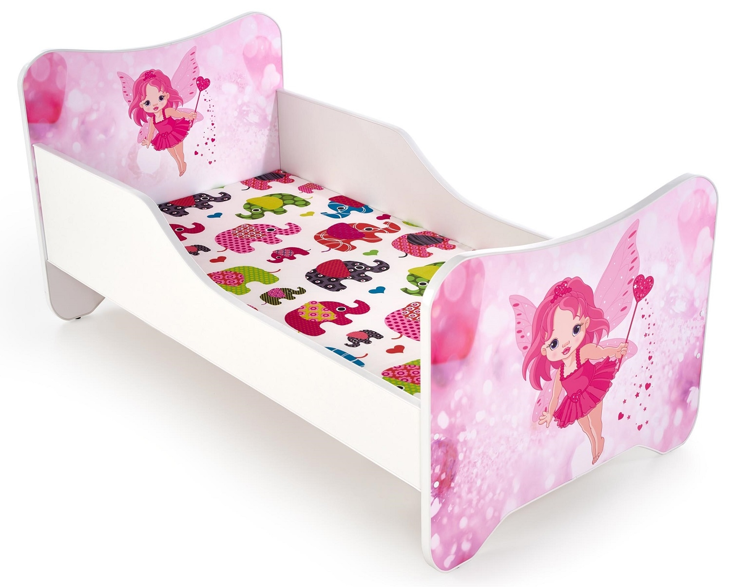 Kinderbed Happy Fee 70x140cm in wit met roze | Home Style