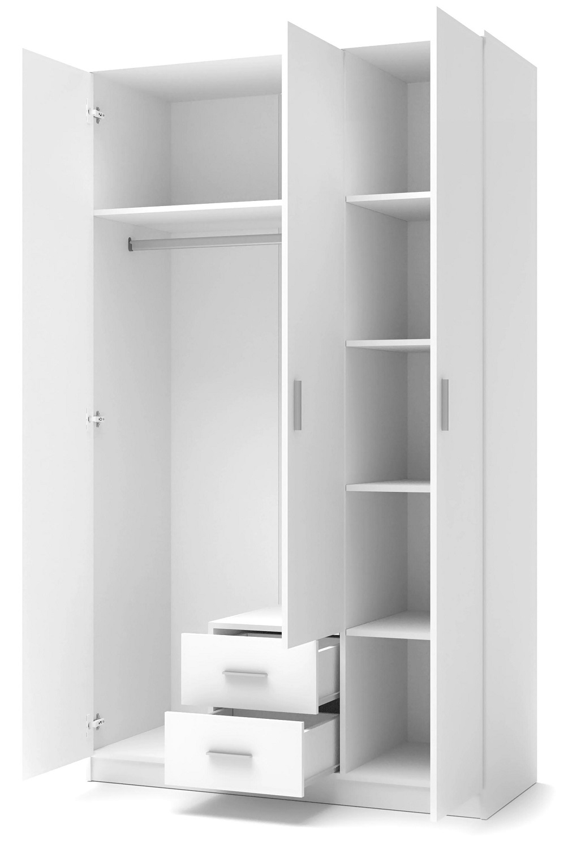 Kledingkast Lima 120 cm breed in hoogglans wit | Home Style