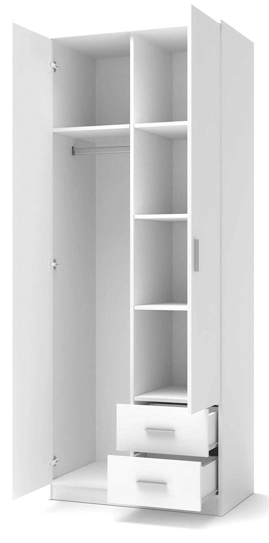 Kledingkast Lima 80 cm breed in hoogglans wit | Home Style