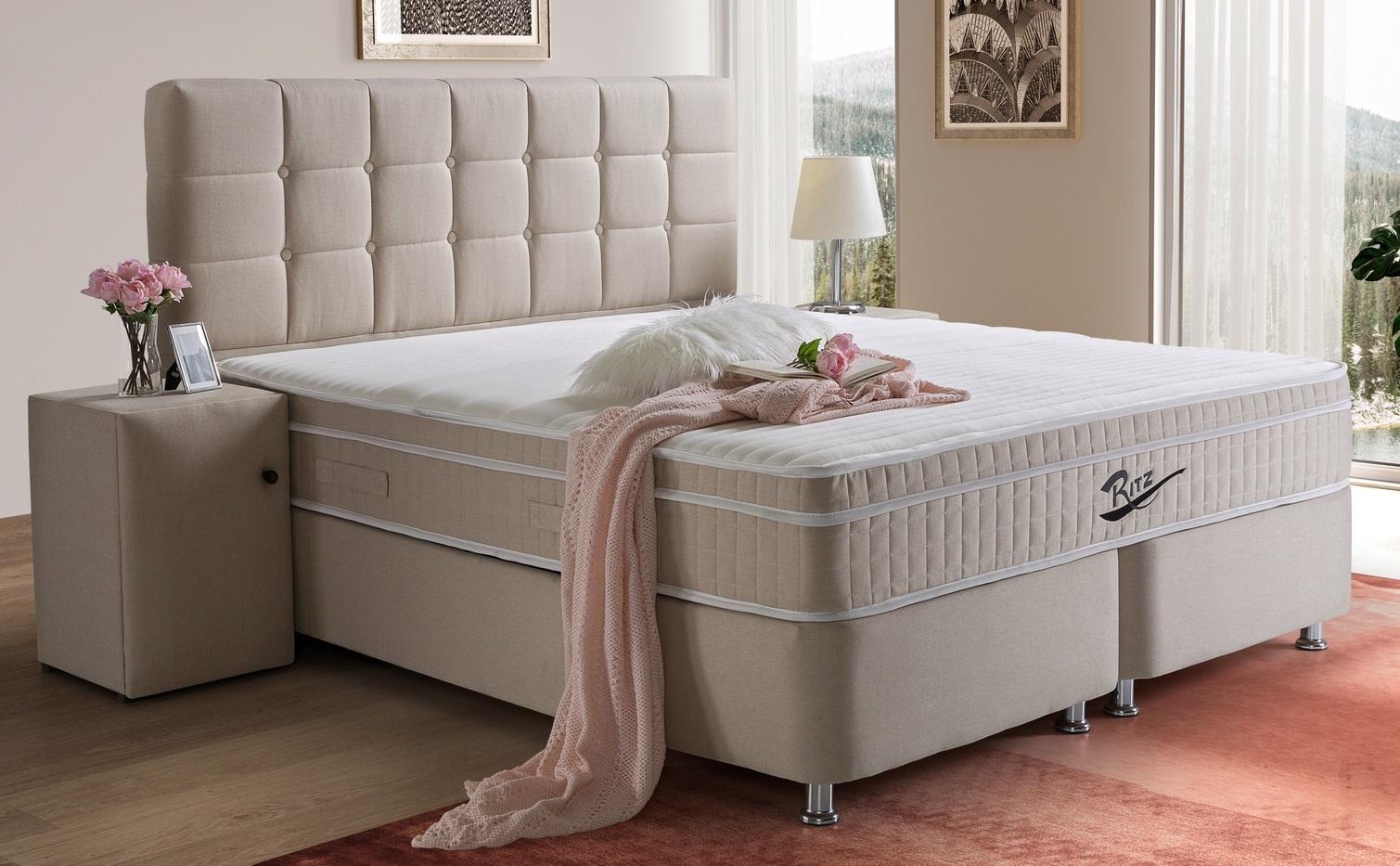 Opbergbed Ritz 140x200cm beige in 5 maten verkrijgbaar   IB Living