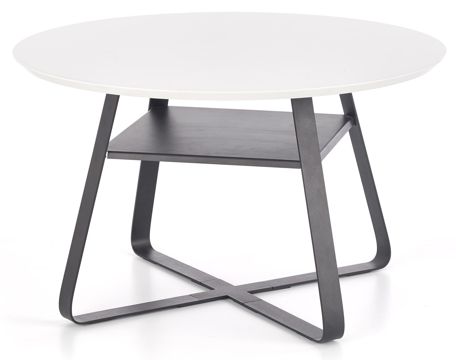 Ronde salontafel Redo 75 cm breed in wit | Home Style
