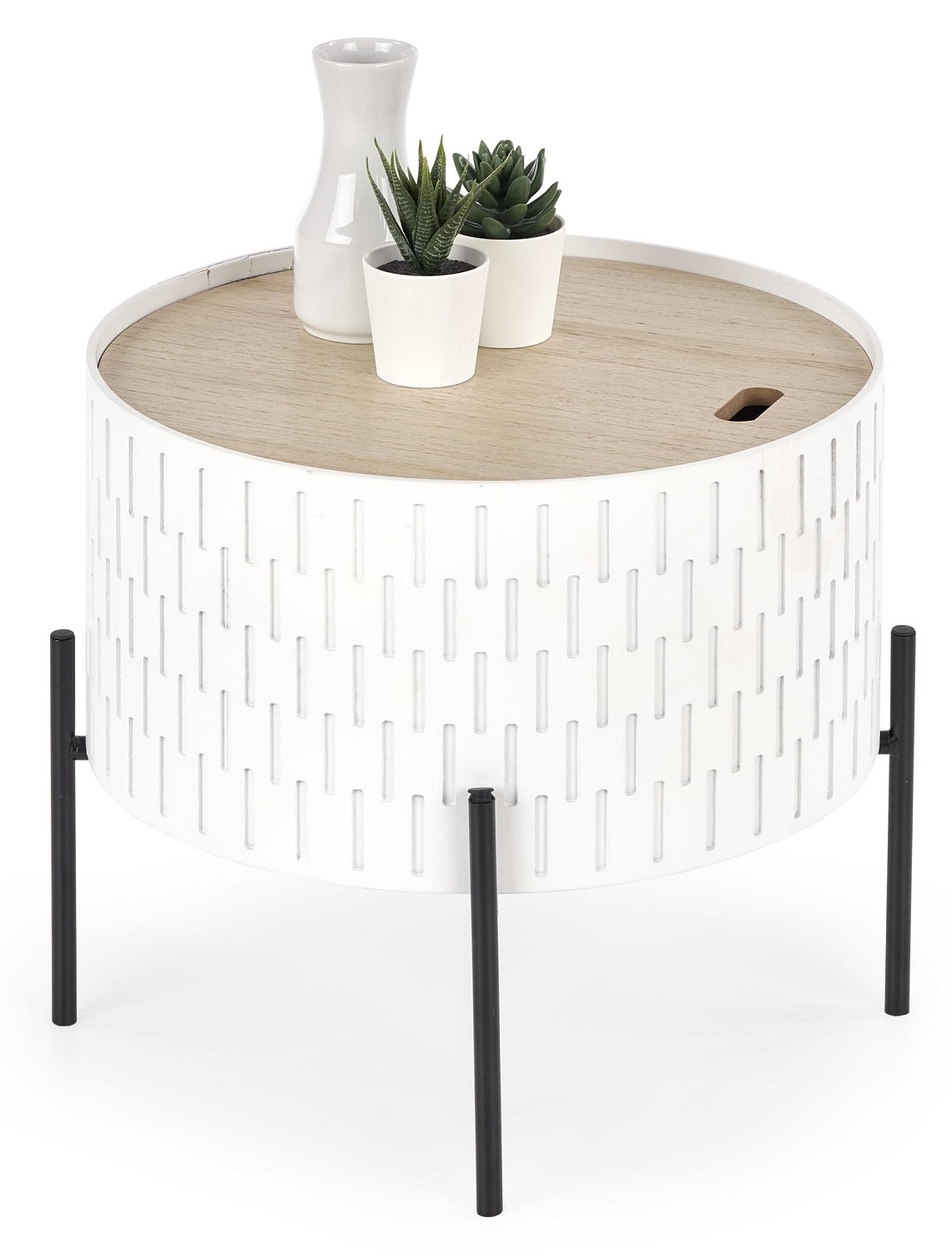 Ronde salontafel Sintra 35 cm breed in wit | Home Style