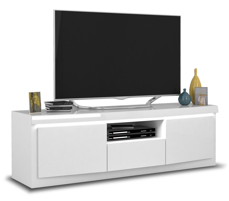 Tv-meubel Spirit 160 cm breed in hoogglans wit   Ameubelment