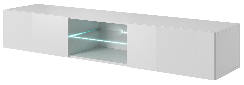 Tv-wandmeubel Livo 180 cm breed in wit met hoogglans wit | Home Style