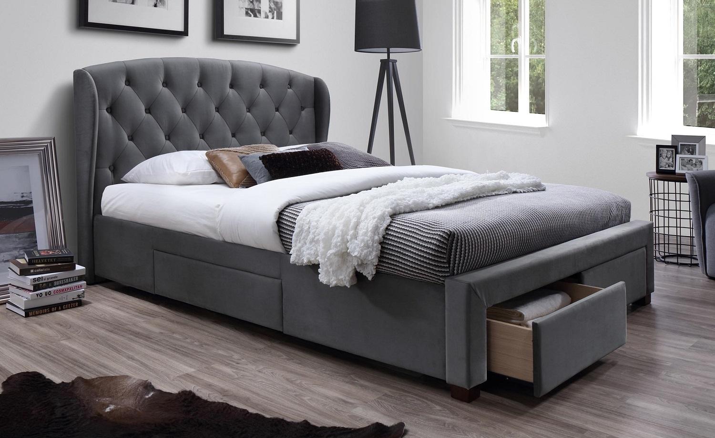 Tweepersoonsbed Sabrina 160x200cm in grijs   Home Style