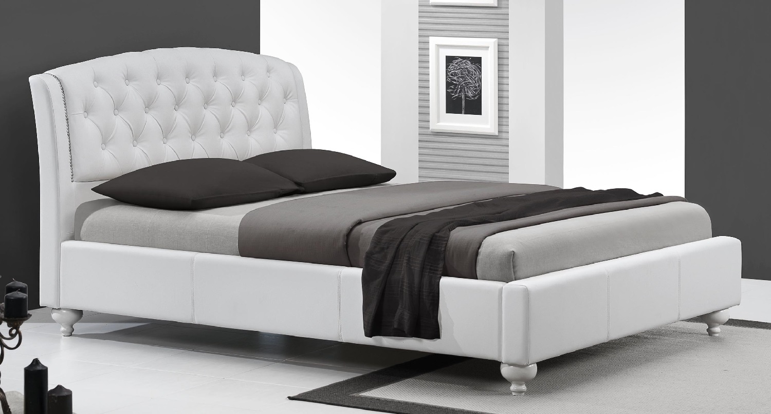 Tweepersoonsbed Sofia 160x200cm in wit   Home Style