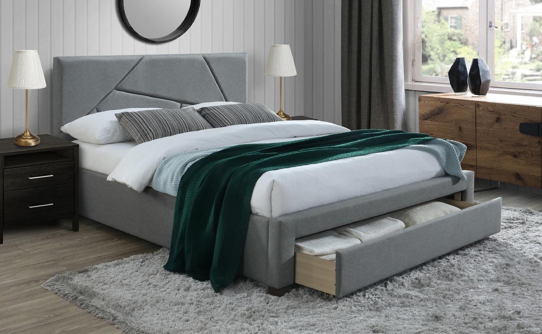 Tweepersoonsbed Valery 160x200cm in grijs | Home Style