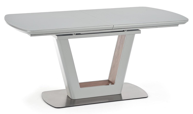 Uitschuifbare eettafel Bilotti 160 tot 200cm breed in mat lichtgrijs | Home Style