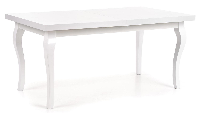 Uitschuifbare eettafel Mozart 160 tot 240 cm breed in wit | Home Style