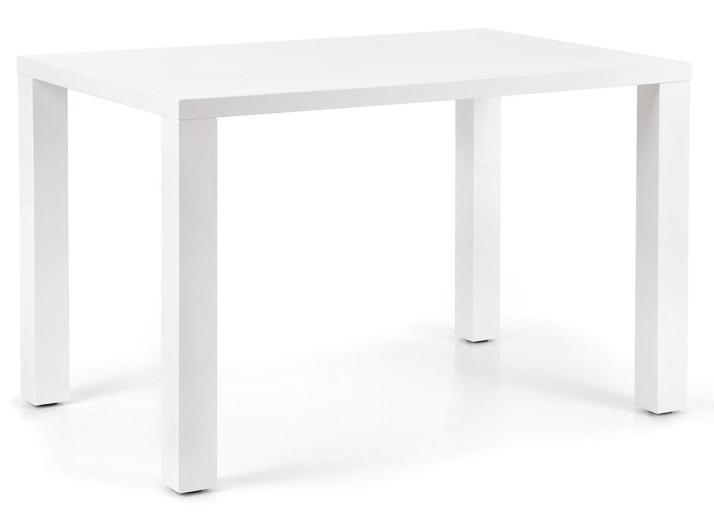Uitschuifbare eettafel Roos 120 tot 160 cm breed in wit | Home Style
