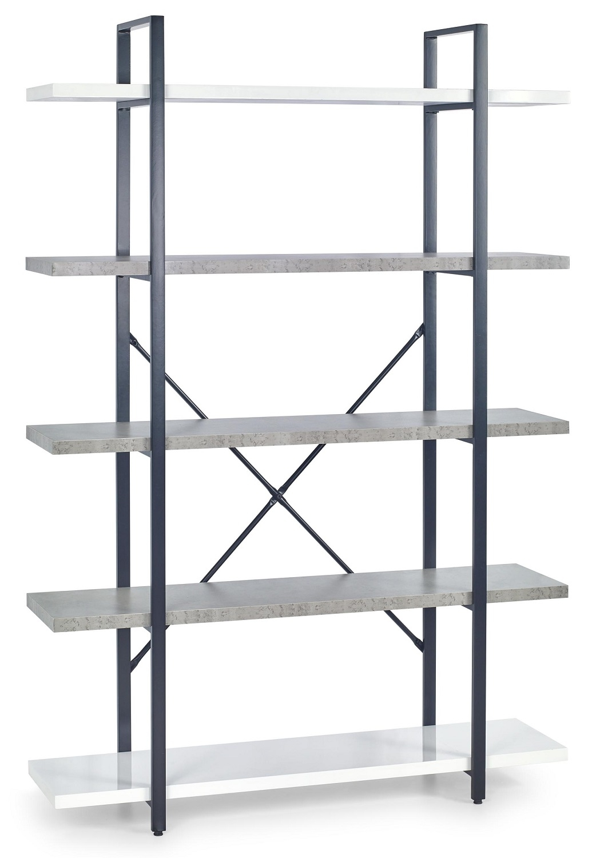 Wandrek Stunno 178 cm hoog in wit met grijs beton | Home Style