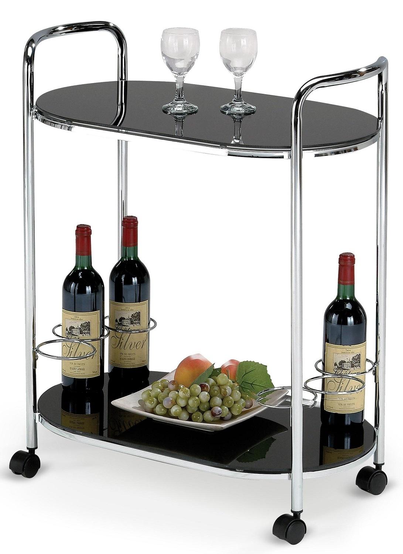 Keukentrolley Classic 76 cm hoog in zwart | Home Style