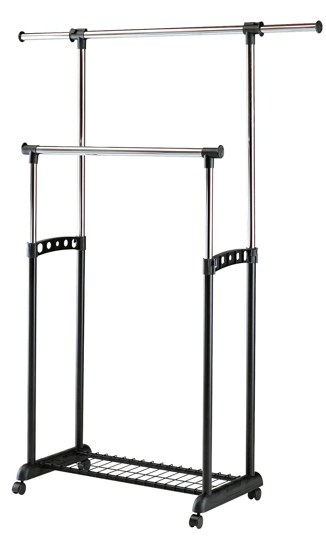 Kledingrek Tetra 90 tot 142 cm breed in zwart | Home Style