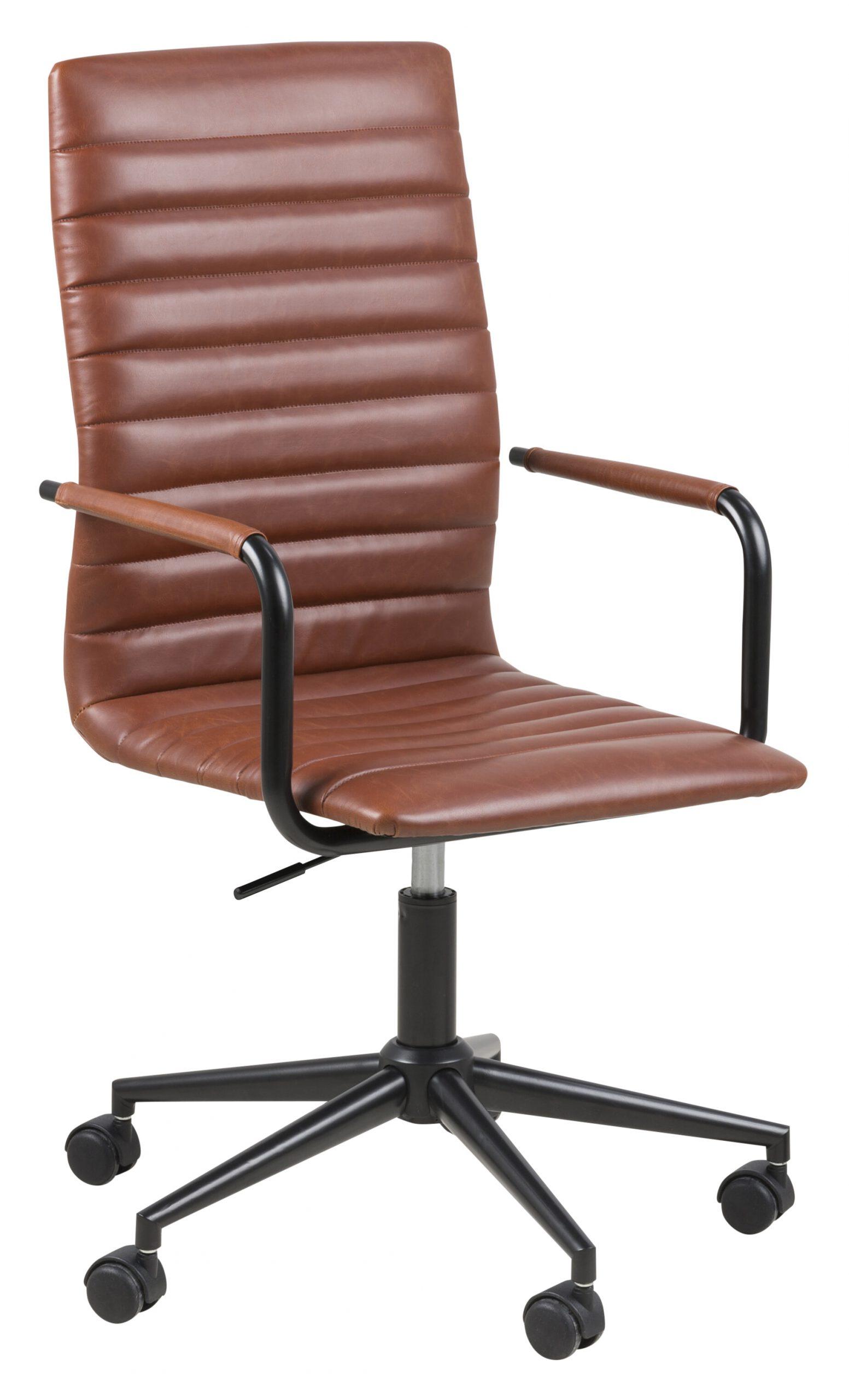Bureaustoel 'Maria' PU-leder, kleur bruin   Bendt