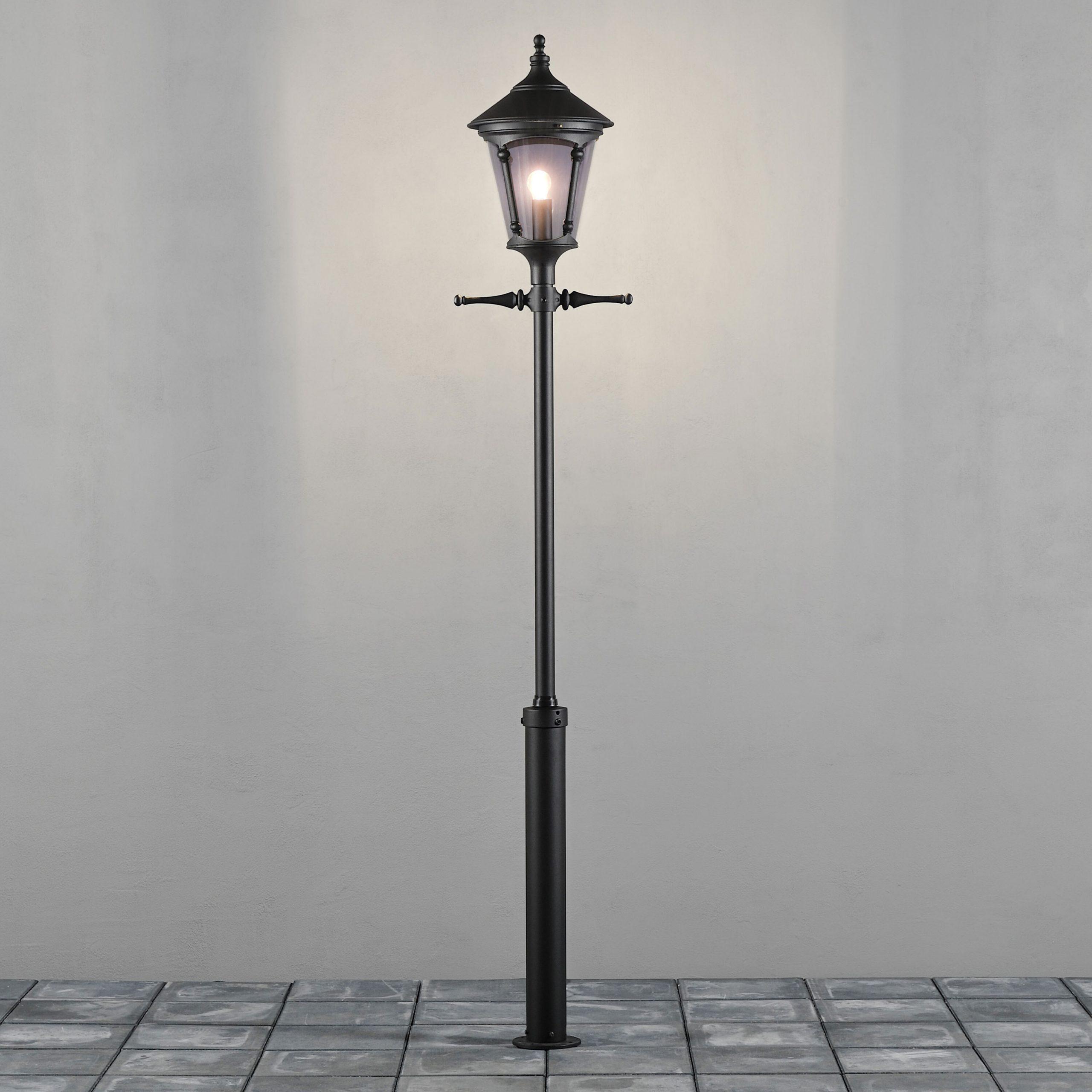 Konstsmide Staande Buitenlamp 'Virgo' 255cm hoog, E27 max 100W / 230V, kleur Zwart | Konstsmide
