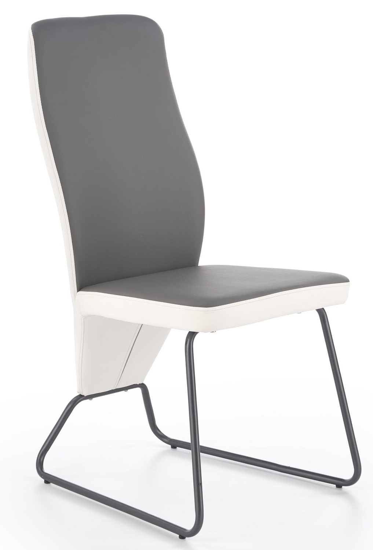 Eetkamerstoel Vespa in grijs met wit | Home Style