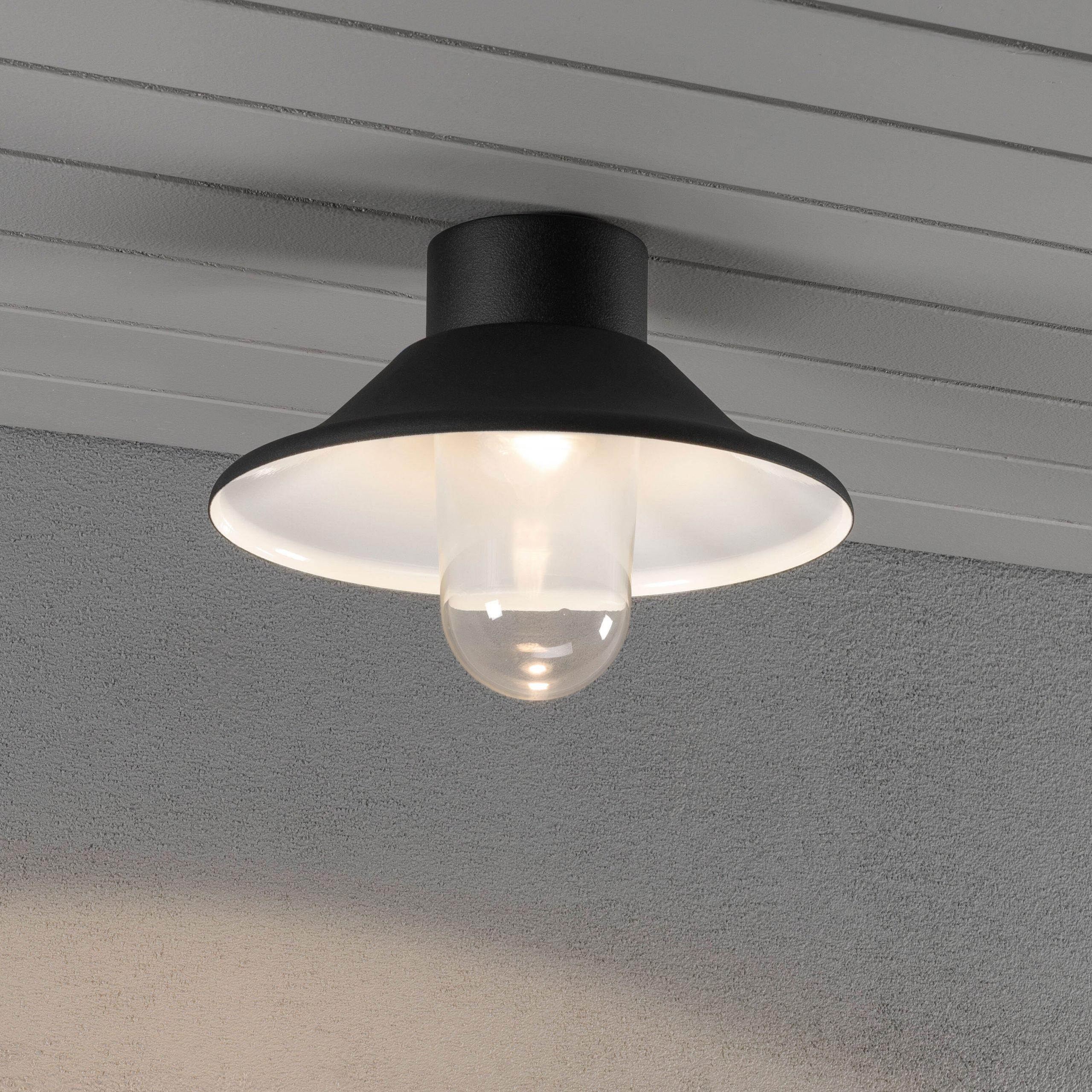 Konstsmide Buitenlamp 'Vega' Plafonnière, PowerLED 1 x 8W / 230V, kleur zwart | Konstsmide